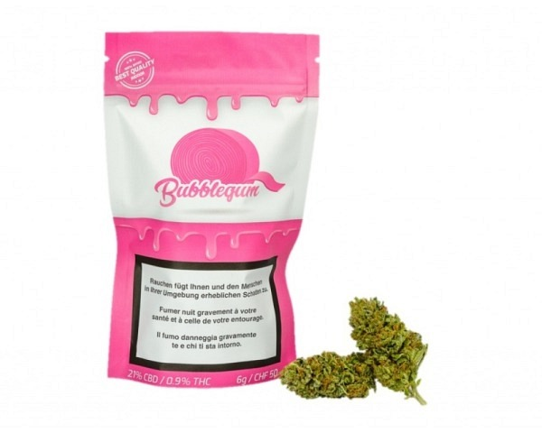Bubblegum CBD fleurs 6 g