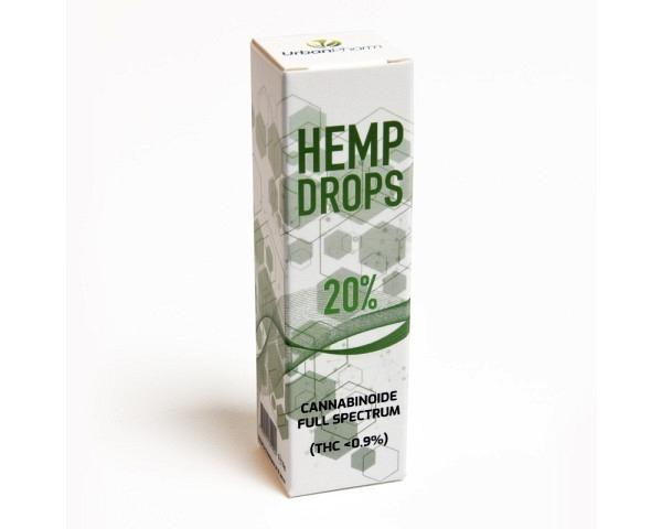 CBD huile 20% de chanvre 10g HEMPDROPS