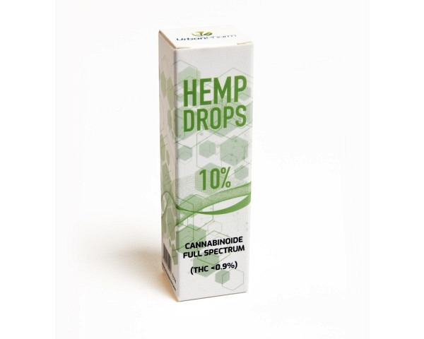 CBD huile 10% de chanvre 10g HEMPDROPS